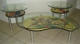 Eurway cocktail table & two (2) end tables