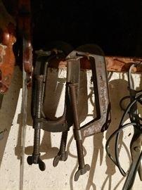 Vintage C clamps