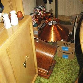 copper pull down lamp