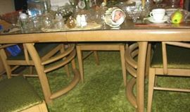 MCM dining room table 20.00   and all chairs 20.00