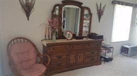 Solid heavy dresser w/ mirror