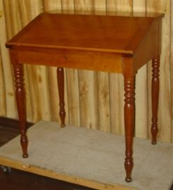 Mid 1800's Cherry Slant Top Desk