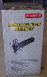 Triple Ball Hitch w/Hook