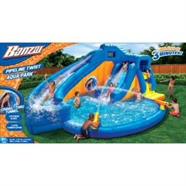 Bonzai water slide inflatable - 2009 - Hours of Family Fun!  Includes an $80 Costco storage container.  ONLY $60