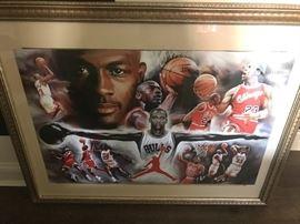 Michael Jordan Framed Art
