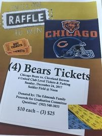ENTER for a chance to win 4 United Club Level tickets including parking to the Bears game on December 24th at Noon.  The drawing will be held on December 1st.  This would be a GREAT Christmas Gift or any occasion gift!!!