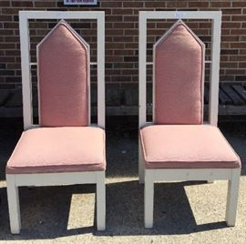 Matching Pair of Cathedral-Back Chairs