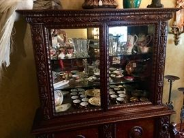 Display cabinet - matches large dining  table and long buffet