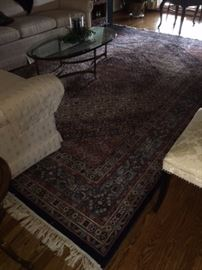 HANDMADE in India, pure virgin wool 8 x 12 area rug.  Connoisseur Collection; KASHMIR style