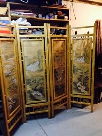 4 panels of Hand crafted Bamboo screen