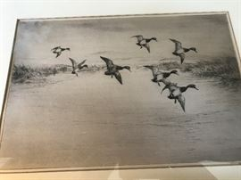 Rare Drypoint Etching by Roland Clark