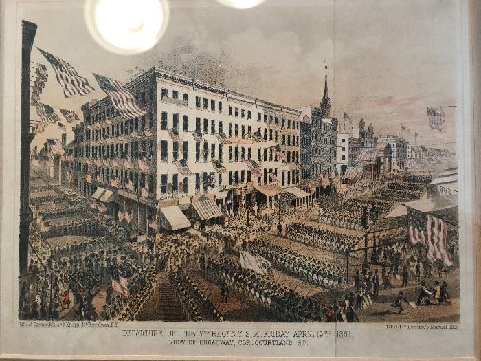 Rare and Original Civil War Lithograph