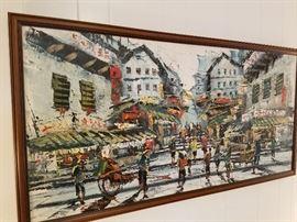 Nice Mid Century Framed Art