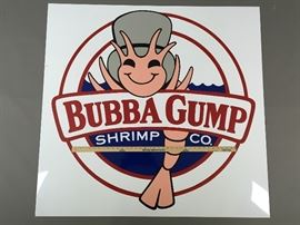 Large hand painted Bubba Gump Shrimp sign.