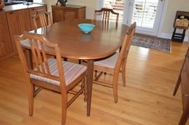 Mid Century Table, 8 Chairs