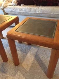 Danish modern teak and slate tables