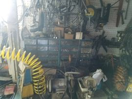 Plenty of tools from this sale of a long-time small engine repairman