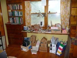 Desk/Bookshelf Unit and Books