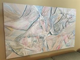 "Abstract Pastel Painting by Dubinet (60"" x 36"")"