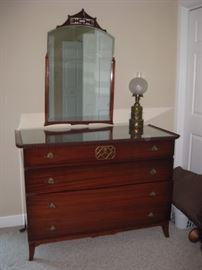 Vintage dresser with mirror.