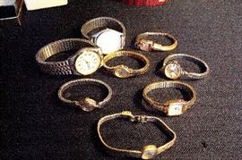 Assortment collectible vintage watches.