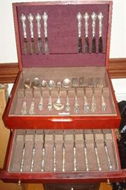 Gorham sterling silver service for eight with additional sterling items.