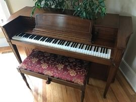 Baldwin Acrosonic 1940's piano-ivory keys