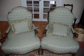 2 French Provincial Chairs