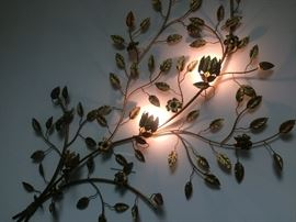 1960's Metal wall art -3 lights