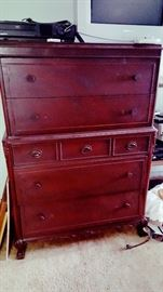 Really nice mahogany chest of drawers with ball and claw feet.