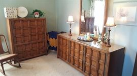 Another view of the triple dresser and chest - very nice set!