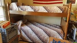 "Very nice set of ""real wood"" wood bunk beds - excellent condition."