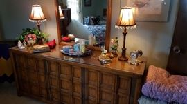 Another view of the triple size dresser and mirror - Very nice!