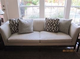 Caracole Light Sofa & Pillows with Guardsman Fabric Protection.