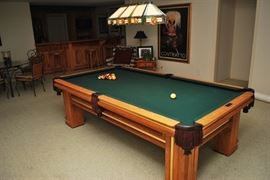 pool table/almost brand new/94 inches X 48 inches playing surface