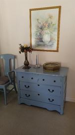 Painted antique oak dresser