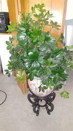 Oriental,planter & stand