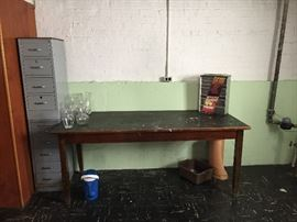 Great Antique school table