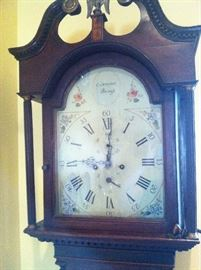 Long case clock by Scottish Clockmaker Charles Campbell, made c. 1780.