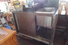 Portable Bar / with soda gun  / hoses / stainless sink on heavy duty casters.      Have 2.    Great for parties