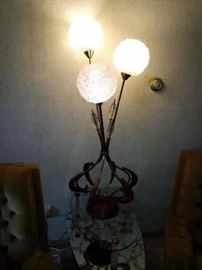 Mid modern Danish lamp with spaghetti  lucite
