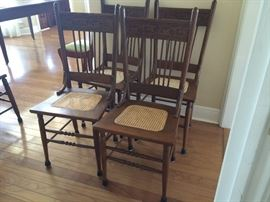 4 cane seat chairs in great condition
