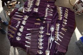 "136 pieces of ""Royal Danish"", International Co, sterling silver flatware."