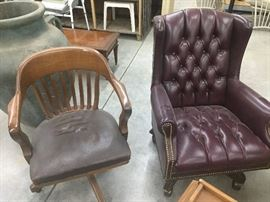 bankers chair, executive leather chair