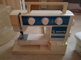 we also have a more modern sewing machine