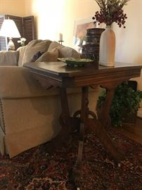 One of two end tables, almost a pair!