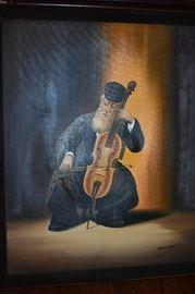 """Original Oil Painting by Kaminski  """"Judaica"""""""
