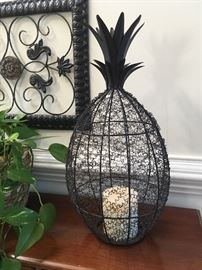 Metal wire Pineapple candle holder