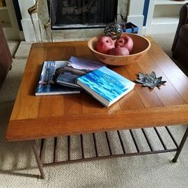 Iron & wood coffee table, Books on Ireland