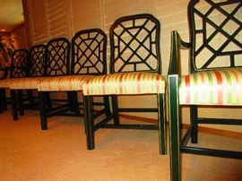 Group of Lacquered Dining Chairs by Kindel